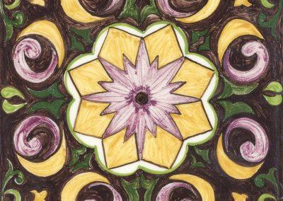 Carrelage fleur centrale