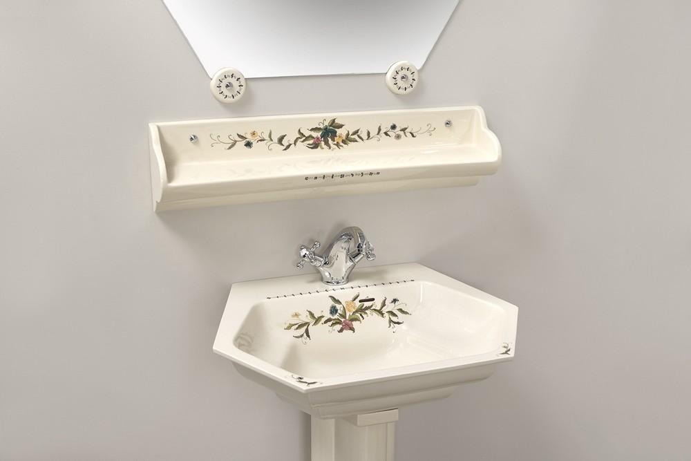 Collection Riviera elle : vasque, étagère, miroir