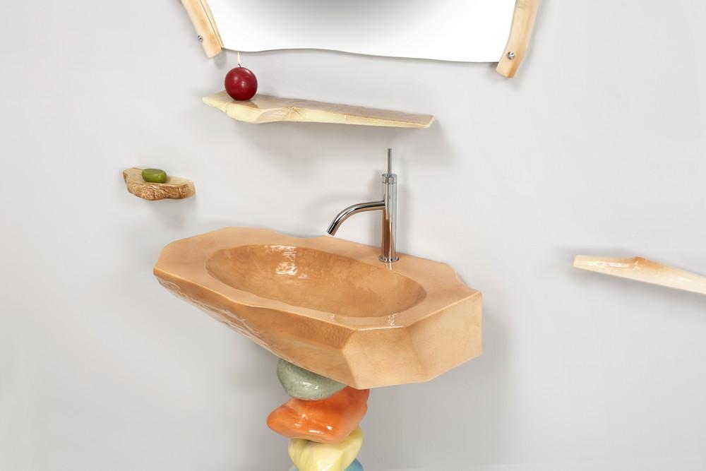 Collection Bois dormant : vasque, étagère, porte-savon