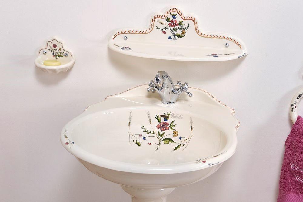 Collection Cheverny : vasque, étagère, porte-savon