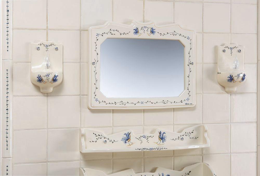Collection Moustiers : étagère, miroir, luminaire