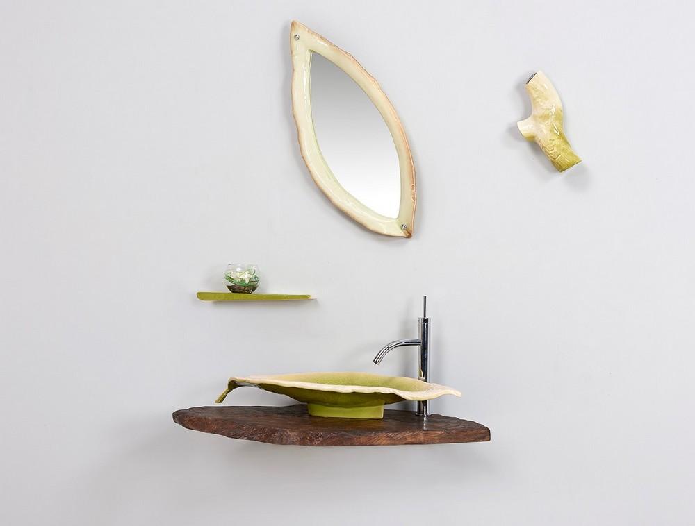 Collection nature étagère miroir