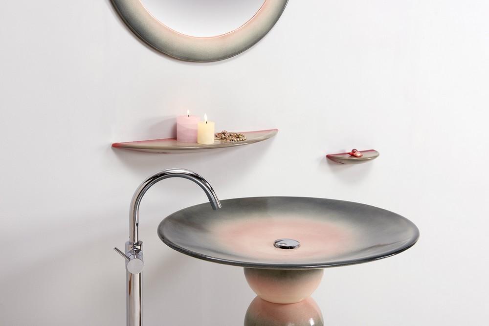 Collection Vénus : vasque, étagère, porte-savon