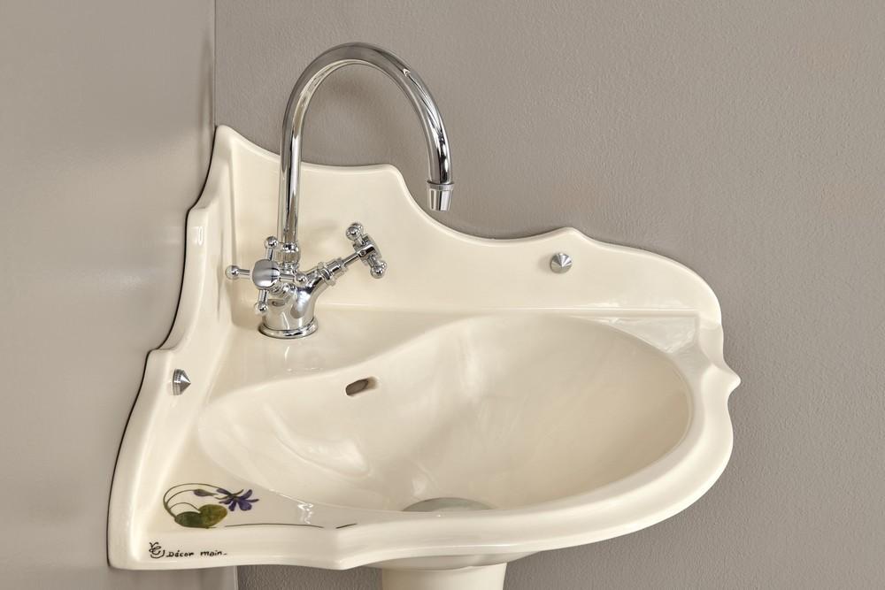Lave mains Orage fleurs : vasque