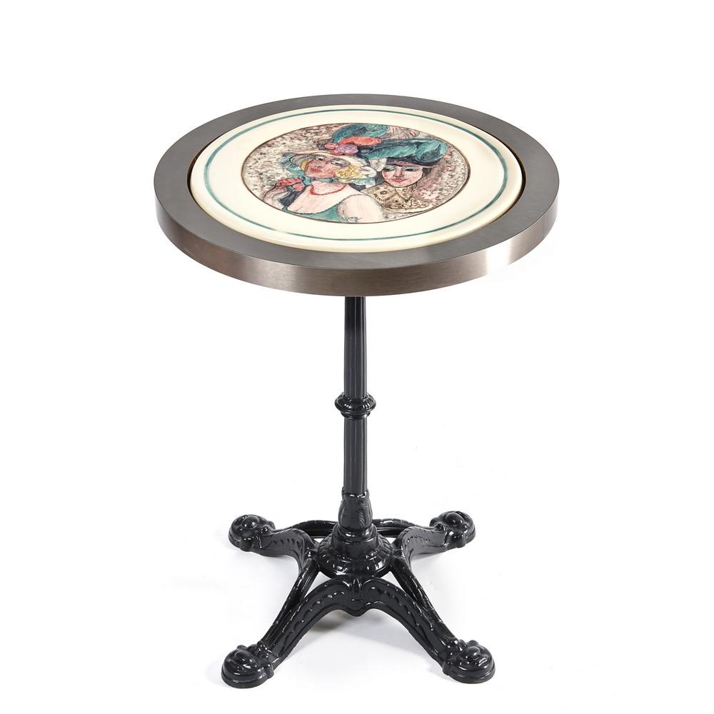 Plateau table femme peint à la main