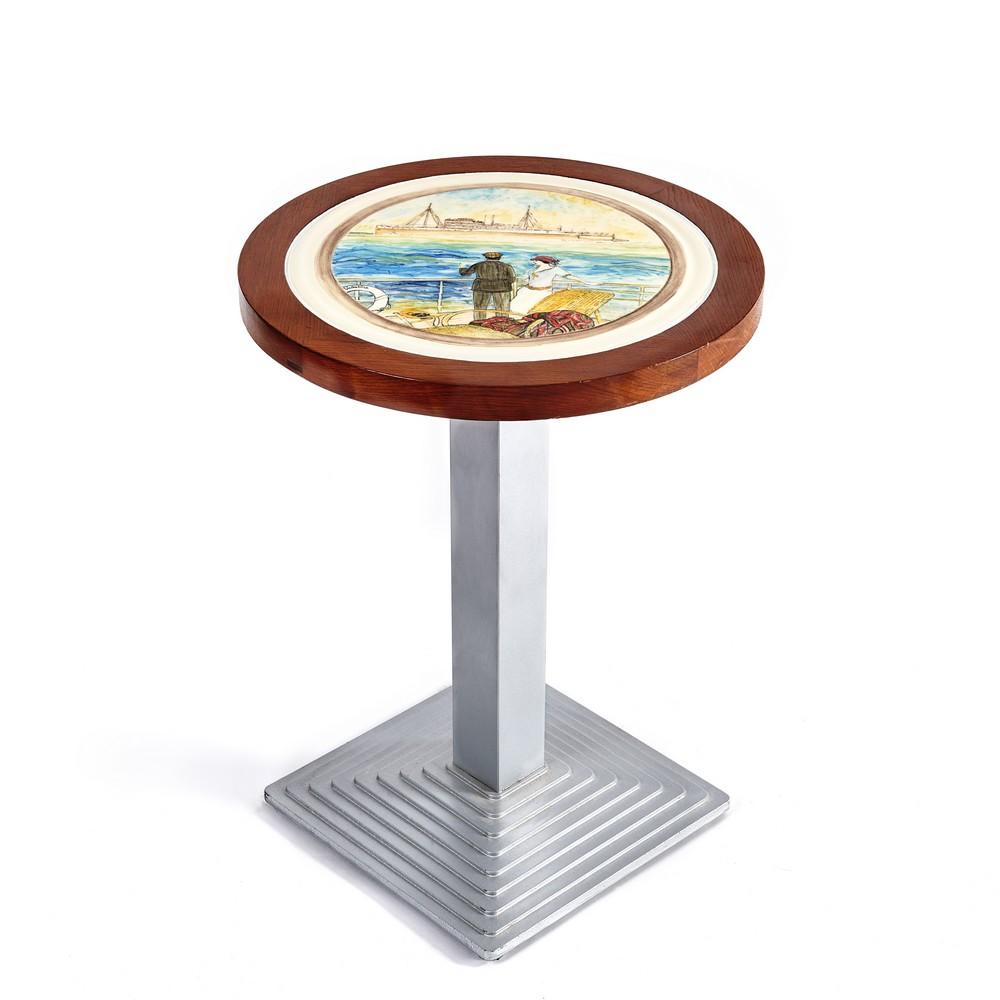 Plateau table voyage décor main