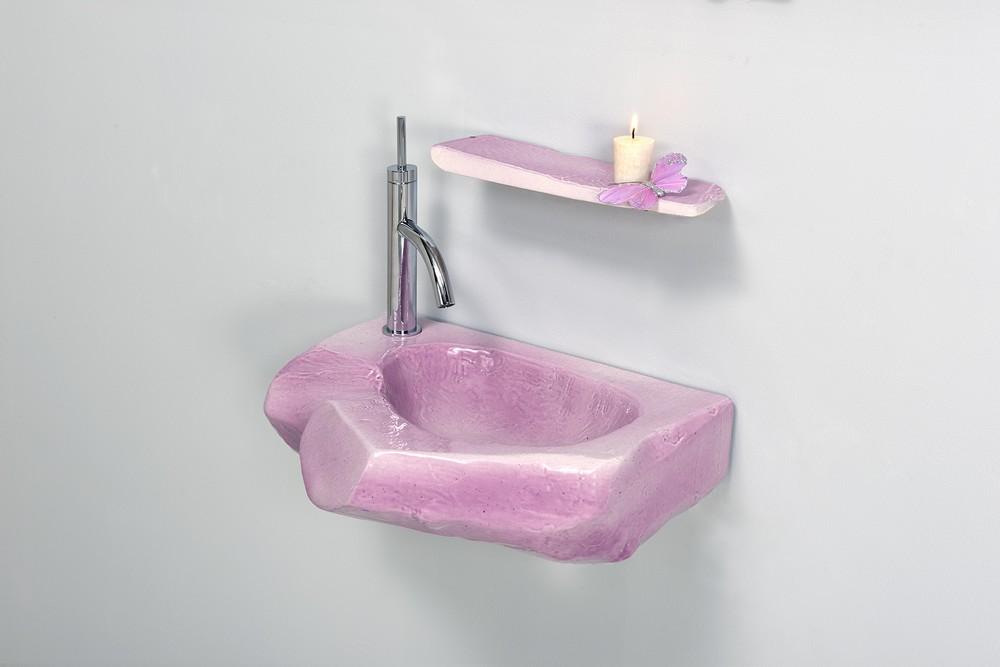 Vasque bois dormant et son étagère